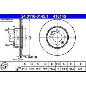 Bomba de limpiaparabrisas (24.0118-0145.1) fabricante ATE para KIA Picanto (SA) año de fabricación 04/2004, 72 CV Tienda online