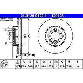 ATE Bremsscheibe (24.0120-0123.1) niedriger Preis