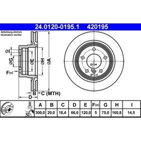 ATE Bremsscheibe (24.0120-0195.1) niedriger Preis