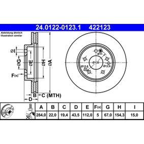ATE Bremsscheibe (24.0122-0123.1) niedriger Preis