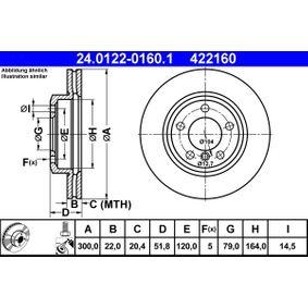 ATE Bremsscheibe (24.0122-0160.1) niedriger Preis