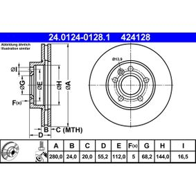 ATE Bremsscheibe (24.0124-0128.1) niedriger Preis