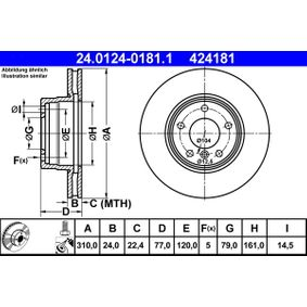 ATE Bremsscheibe (24.0124-0181.1) niedriger Preis