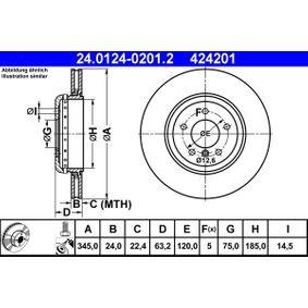 ATE Bremsscheibe (24.0124-0201.2) niedriger Preis