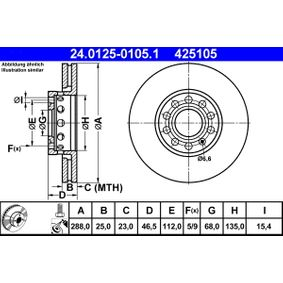 ATE Bremsscheibe (24.0125-0105.1) niedriger Preis