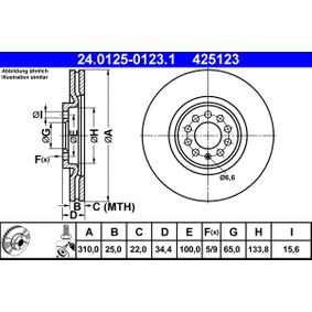 ATE Bremsscheibe (24.0125-0123.1) niedriger Preis