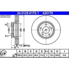 ATE MAZDA 3 Filtro de aire (24.0125-0170.1)
