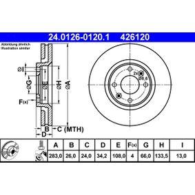 ATE Bremsscheibe (24.0126-0120.1) niedriger Preis