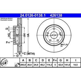 ATE Bremsscheibe (24.0126-0138.1) niedriger Preis