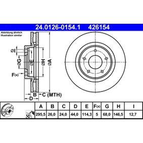ATE Bremsscheibe (24.0126-0154.1) niedriger Preis