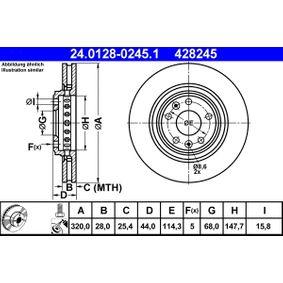 ATE Bremsscheibe (24.0128-0245.1) niedriger Preis