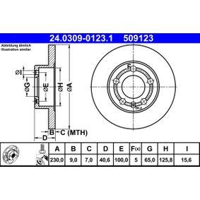 ATE Bremsscheibe (24.0309-0123.1) niedriger Preis