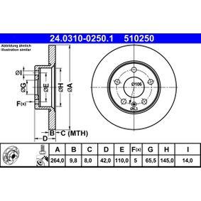 ATE OPEL ZAFIRA Klimaleitung (24.0310-0250.1)