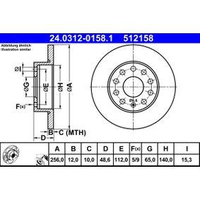 ATE Bremsscheibe (24.0312-0158.1) niedriger Preis