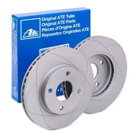 ATE Bremsscheibe für Fahrzeuge mit ABS  Vorderachse  beschichtet  belüftet  24.0322-0172.1