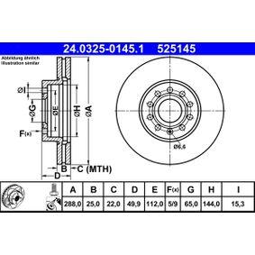 Federn ATE (24.0325-0145.1) für VW GOLF Preise