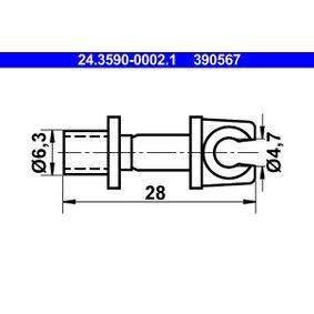 ATE Спирачни маркучи 24.3590-0002.1