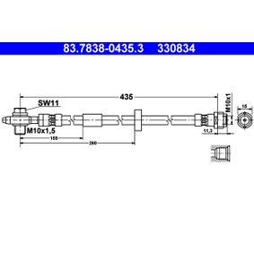 Tubo flexible de frenos 83.7838-0435.3