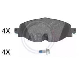 Kit de plaquettes de frein, frein à disque A.B.S. Art.No - 35070 OEM: 5Q0698151D pour VOLKSWAGEN, AUDI, SEAT, SKODA récuperer