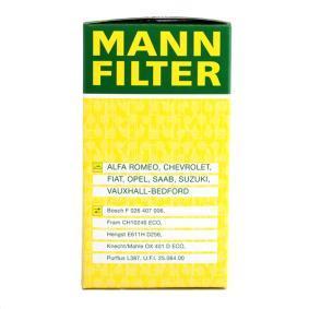 Filtro de combustible MANN-FILTER (HU 612/2 x) para OPEL ASTRA precios