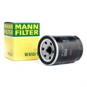 9091510004 für TOYOTA, DAIHATSU, LEXUS, WIESMANN, Ölfilter MANN-FILTER (W 610/1) Online-Shop
