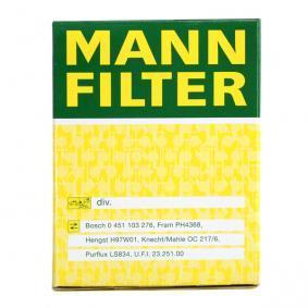 MANN-FILTER Ölfilter W 610/1