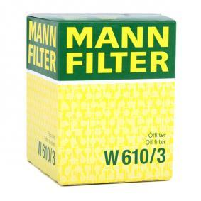 MANN-FILTER FIAT PUNTO Rubber strip, exhaust system (W 610/3)