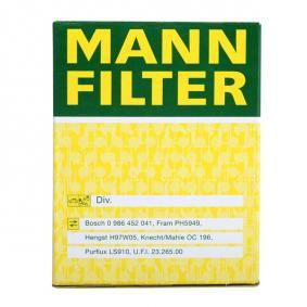 Rubber strip, exhaust system MANN-FILTER (W 610/3) for FIAT PUNTO Prices