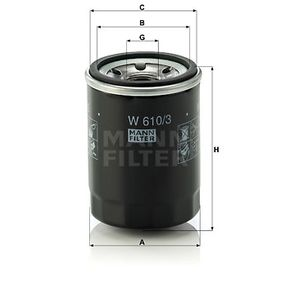 Distributor and parts (W 610/3) producer MANN-FILTER for FIAT PANDA (169) year of manufacture 09/2003, 60 HP Online Shop