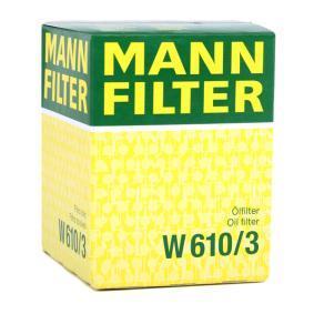 MANN-FILTER LANCIA YPSILON Pezzo per fissaggio, imp. gas scarico (W 610/3)