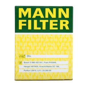 Pezzo per fissaggio, imp. gas scarico MANN-FILTER (W 610/3) per LANCIA YPSILON prezzi