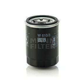 Pezzo per fissaggio, imp. gas scarico (W 610/3) fabbricante MANN-FILTER per LANCIA Ypsilon (312_) anno di produzione 05/2011, 69 CV Negozio su web