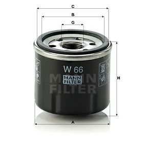 MANN-FILTER Gaskabel (W 66)