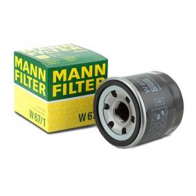 MANN-FILTER W 67/1 Маслен филтър OEM - 15208AA020 NISSAN, SUBARU евтино