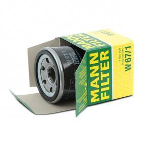 Oil filter MANN-FILTER (W 67/1) for MAZDA 2 Prices