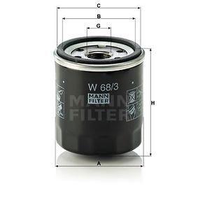 Wiper blade rubber (W 68/3) producer MANN-FILTER for TOYOTA RAV 4 II (CLA2_, XA2_, ZCA2_, ACA2_) year of manufacture 08/2000, 125 HP Online Shop