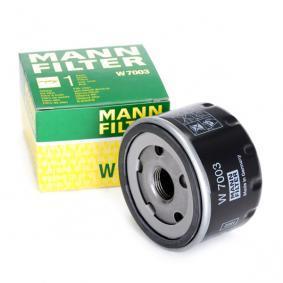 46796687 for FIAT, ALFA ROMEO, LANCIA, AUTOBIANCHI, Oil Filter MANN-FILTER (W 7003) Online Shop