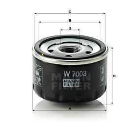 MANN-FILTER Oil Filter (W 7003) at low price