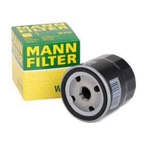 Filtre à huile MANN-FILTER Art.No - W 712 OEM: 7984256 pour OPEL, CHEVROLET, DAEWOO, BEDFORD, GMC récuperer