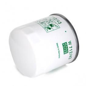 Filtre à huile MANN-FILTER Art.No - W 712/43 OEM: 5020700025 pour VOLKSWAGEN, AUDI, SEAT, HONDA, SKODA récuperer