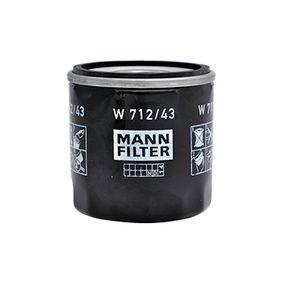 7701415053 pour RENAULT, DACIA, RENAULT TRUCKS, SANTANA, Filtre à huile MANN-FILTER (W 712/43) Boutique en ligne
