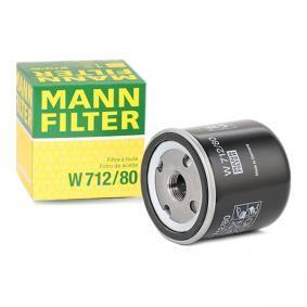 7496144 pour SAAB, TVR, Filtre à huile MANN-FILTER (W 712/80) Boutique en ligne