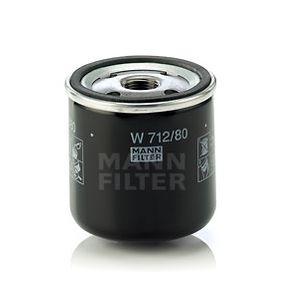MANN-FILTER Filtre à huile (W 712/80) à bas prix