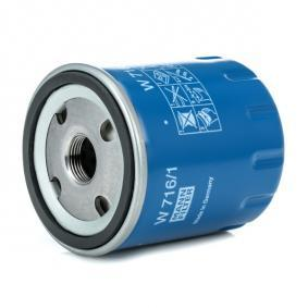 Filtro recirculación de gases MANN-FILTER W 716/1 populares para PEUGEOT 407 2.0 136 CV