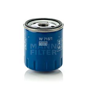 W 716/1 Separador de aceite MANN-FILTER para PEUGEOT 407 2.0 136 CV a un precio bajo