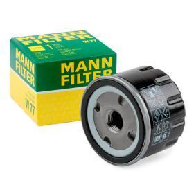 71736169 for FIAT, ALFA ROMEO, LANCIA, Oil Filter MANN-FILTER (W 77) Online Shop