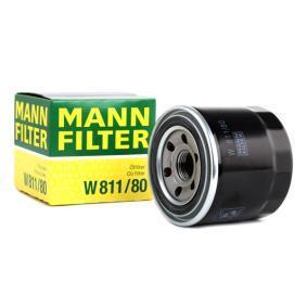 Маслен филтър MANN-FILTER Art.No - W 811/80 OEM: MV690116 за MITSUBISHI купете