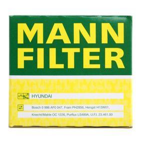 MANN-FILTER Маслен филтър (W 811/80) на ниска цена