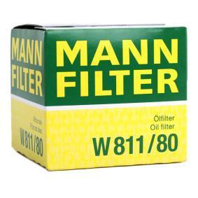 MANN-FILTER W 811/80 Ölfilter OEM - RF0123802A AUWÄRTER, MAZDA, MITSUBISHI, MERCURY, KIA günstig