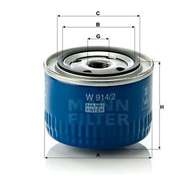 MANN-FILTER Filtre à huile W 914/2